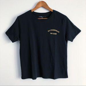 Brunette The Label No Champagne No Gain T-Shirt